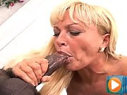 Horny MILF Enjoys Having A Fat Black Cock To Suck & Gets Cum
